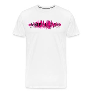 Men's White Amplilash Tee - Men's Premium T-Shirt