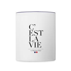 C'EST LA VIE - MUG blue  - Contrast Coffee Mug