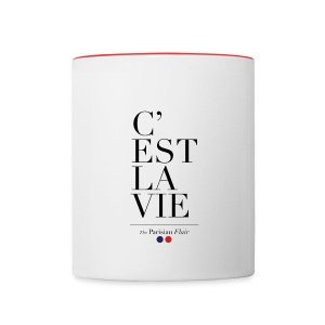 C'EST LA VIE - MUG red - Contrast Coffee Mug