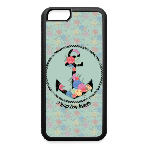 Anchor with Flowers Case - iPhone 6/6s Rubber Case