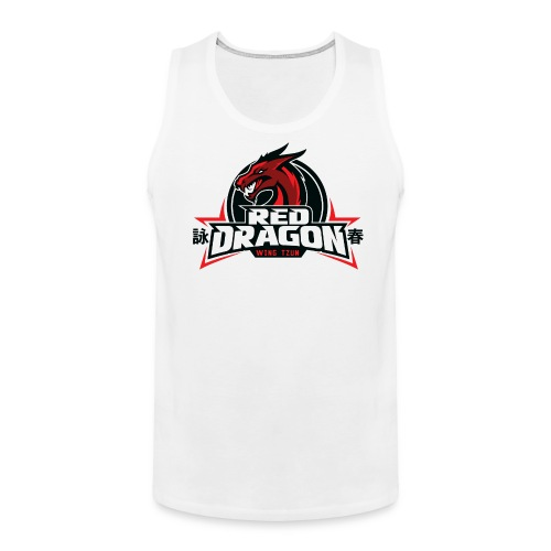 Red Dragon Wing Tzun Logo Premium Tank Top - Men's Premium Tank