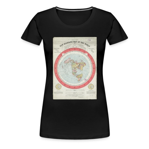 Flat Earth Gleason Style  Ladies T-Shirt - Women's Premium T-Shirt
