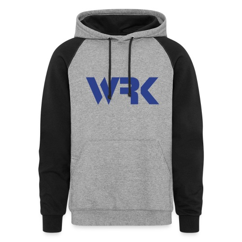 Blue WRK - Gray and Black Hoodie - Molleton à capuche à couleurs contrastées