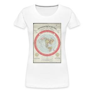 Flat Earth Gleason Style  Ladies T-Shirt - Women's Premium T-Shirt