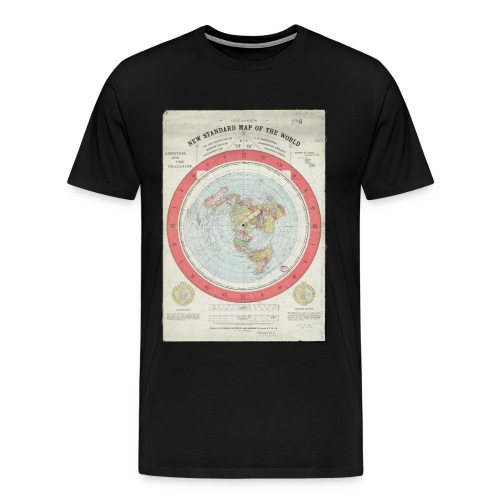 Flat Earth Gleason Style Mens T-Shirt - Men's Premium T-Shirt