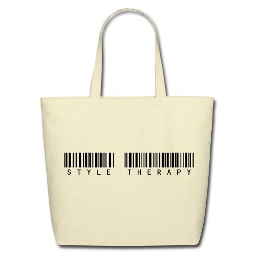 Bar Code Logo Tote Black - Eco-Friendly Cotton Tote