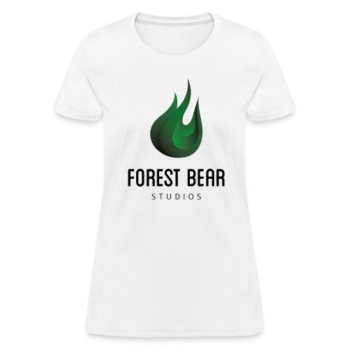 Forest Bear Logo Black Text (Female) - Women's T-Shirt