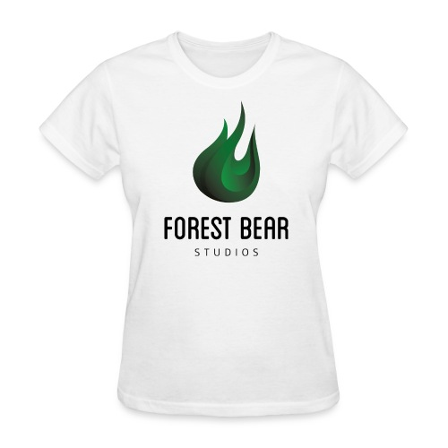 Forest Bear Logo Black Text (Female) - Women's T-Shirt