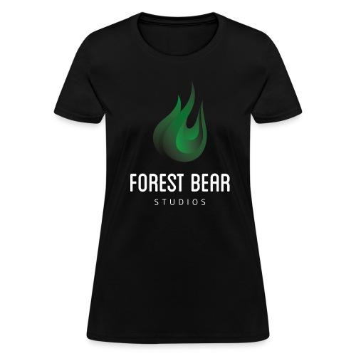 Forest Bear Logo White Text (Female) - Women's T-Shirt