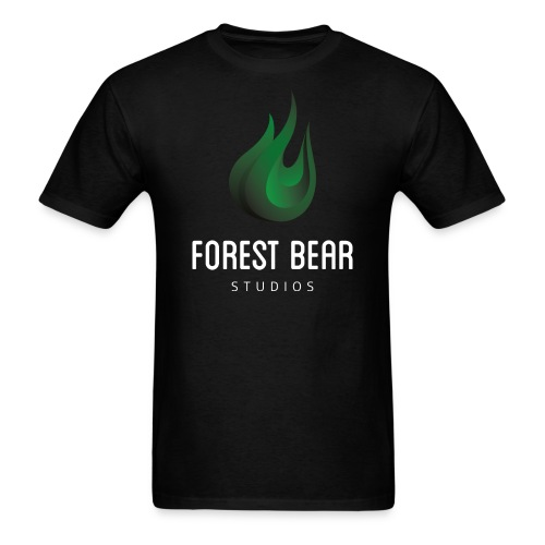 Forest Bear Logo White Text (Male) - Men's T-Shirt