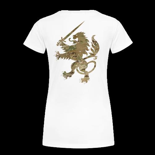 Lady Infidel Lion Multicam - Women's Premium T-Shirt
