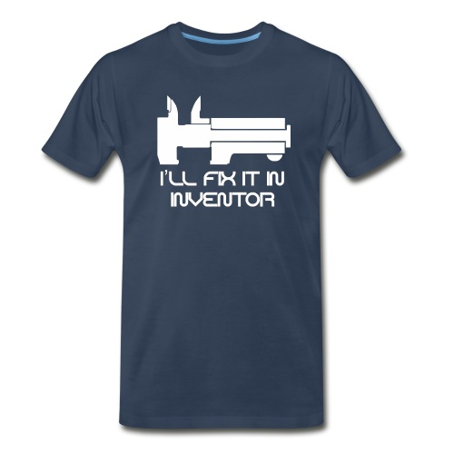 Navy Drafter Hollic - Men's Premium T-Shirt