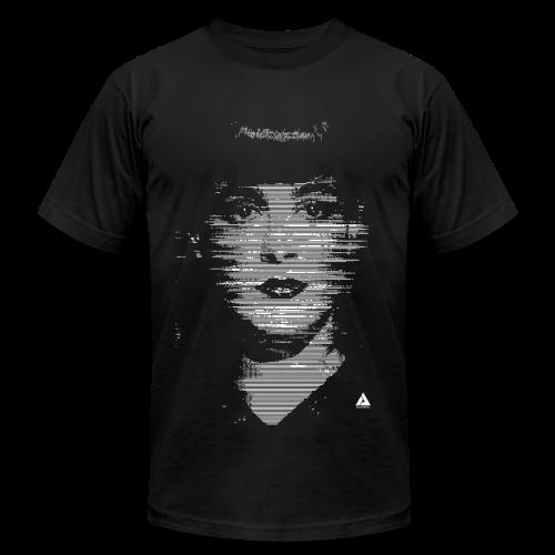 RACHAEL GLITCH AMERICAN APPAREL T-SHIRT - Men's Fine Jersey T-Shirt