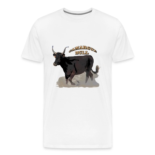 Camargue black bull   - Men's Premium T-Shirt