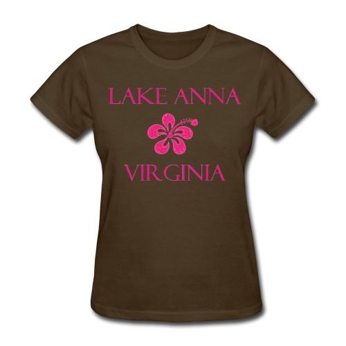 Women's T-Shirt Pink Flower Lake Anna VA - Women's T-Shirt