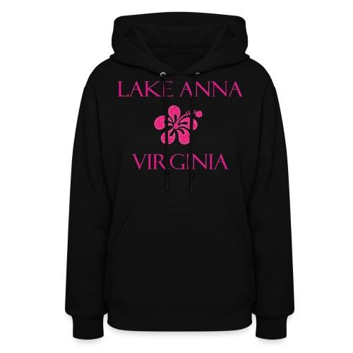 Women's Hoodie Pink Flower Lake Anna VA - Women's Hoodie