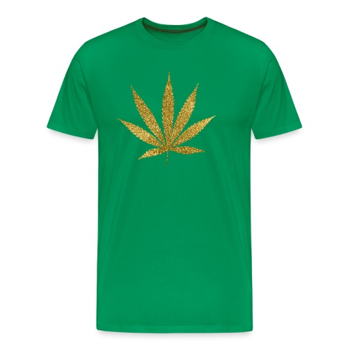 Gold Marijuana T-Shirt - Men's Premium T-Shirt