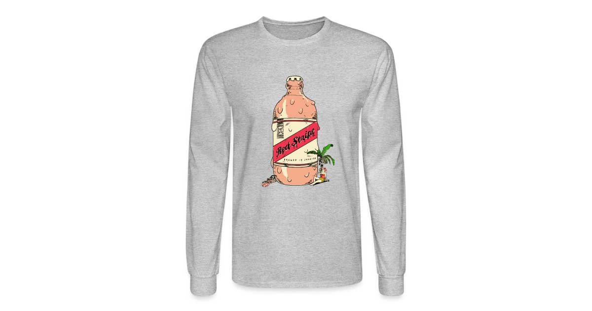 ec97abd0e4 Jamrock Design | Red Stripe Beer Long Sleeve Shirt - Mens Long ...