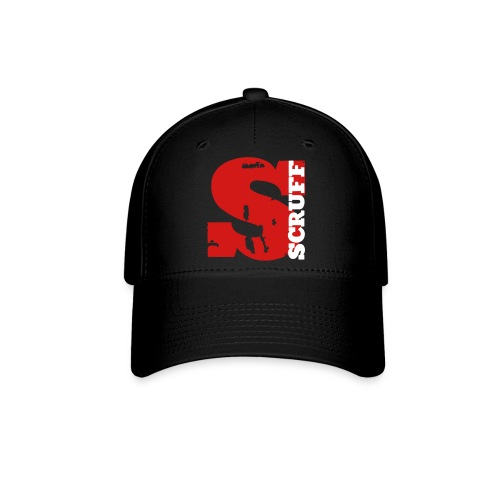 SCRUFF Baseball Cap - Black (red/white overlap logo) - Baseball Cap