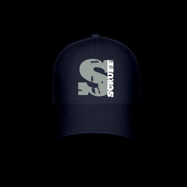SCRUFF Baseball Cap - Blue (gray white overlap logo) a02fd2a5093