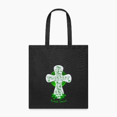 Nashville Irish Blessing Cross Tote Bags