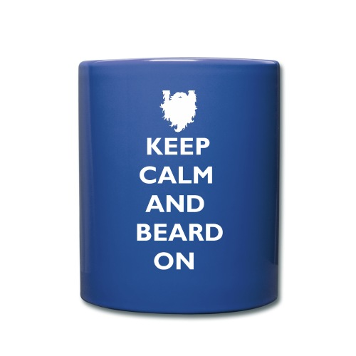 Keep Calm and Beard On White Print - Full Color Mug
