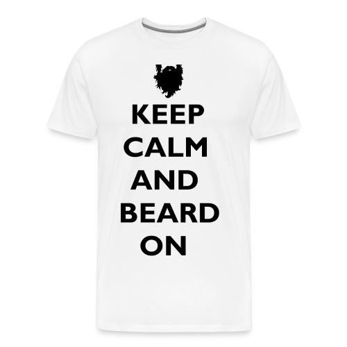 Keep Calm and Beard On T-Shirt - Men's Premium T-Shirt
