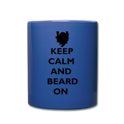 Keep Calm and Beard On Mug Black Print - Full Color Mug