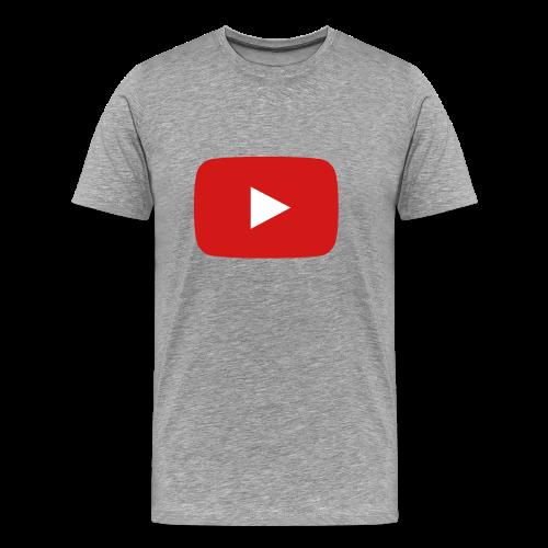 youtube play button - Men's Premium T-Shirt