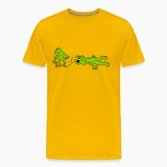 tongue kiss lick hold catch 2 frogs couple love to T-Shirts