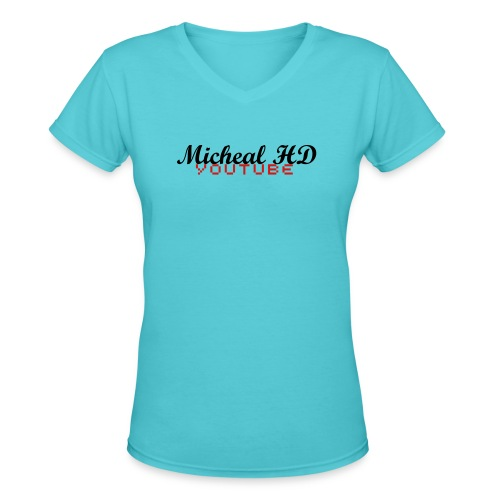 Girls Micheal HD Shirt - Women's V-Neck T-Shirt