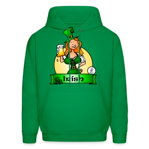 St. Patrick's Day Irish Maiden - Men's Hoodie
