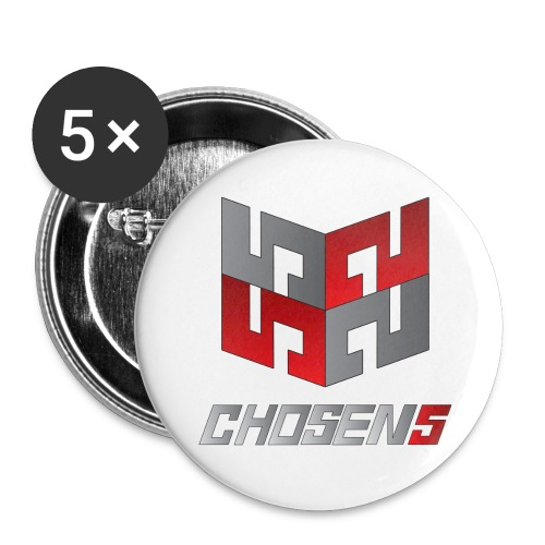 Chosen5 | Badges med logo (5 stk.) - Small Buttons