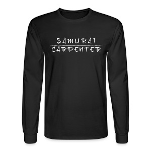 Premium Long Sleeve Samurai Carpenter Crest - Men's Long Sleeve T-Shirt