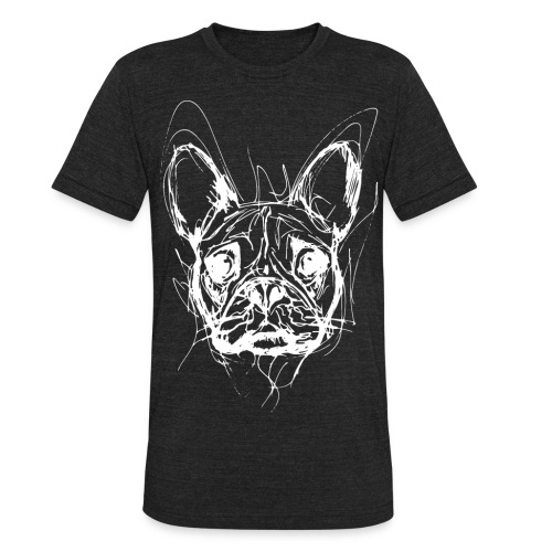 French Bulldog T-shirt - Unisex Tri-Blend T-Shirt