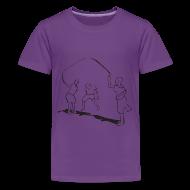 Kids' Shirts ~ Kids' Premium T-Shirt ~ kids-skipping premium