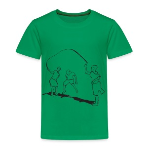 toddlers-skipping - Toddler Premium T-Shirt