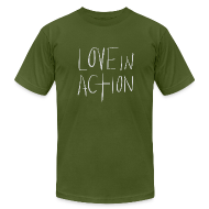 T-Shirts ~ Men's T-Shirt by American Apparel ~ Love In Action