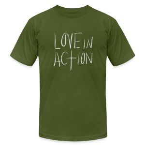 Love In Action - Men's T-Shirt by American Apparel
