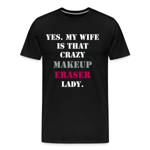 Men's Short Sleeve Black Crazy MUE Wife T-shirt - Men's Premium T-Shirt