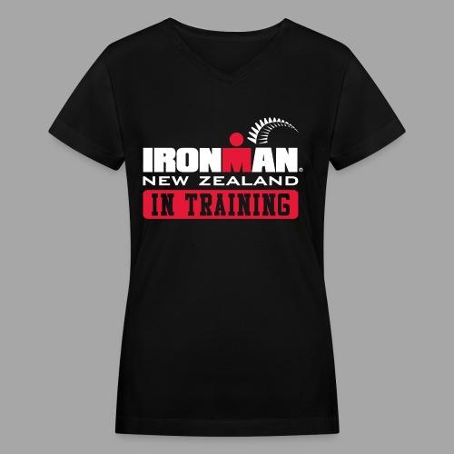 IM New Zealand In Training Women's V-Neck T-shirt - Women's V-Neck T-Shirt