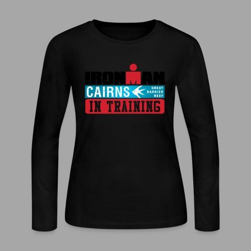 IM Cairns In Training Women's Long Sleeve T-shirt - Women's Long Sleeve Jersey T-Shirt