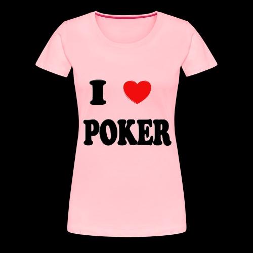 I heart poker woman shirt - Women's Premium T-Shirt