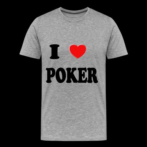 I heart poker mens - Men's Premium T-Shirt