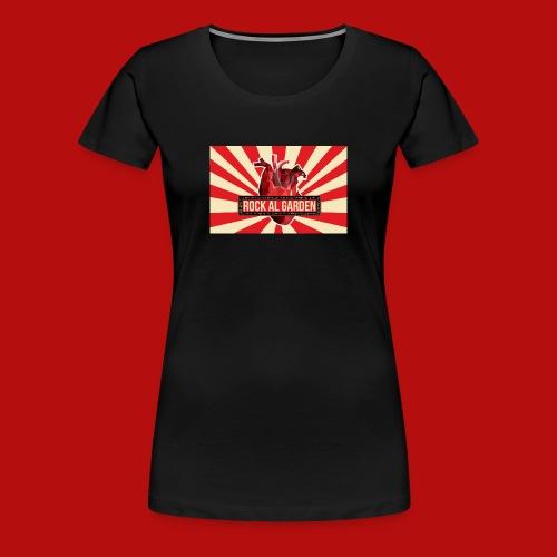 Rock al Garden logo stripes girls - Women's Premium T-Shirt