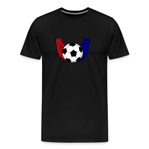 I Live Futbol Logo Men's Premium T-Shirt - Men's Premium T-Shirt