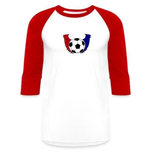 I Live Futbol Logo Men's Baseball T-Shirt - Baseball T-Shirt