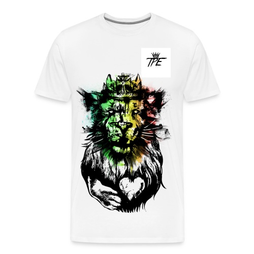Frankie Maher's #TPE HEART OF THE #L!ON KING Tee - Men's Premium T-Shirt