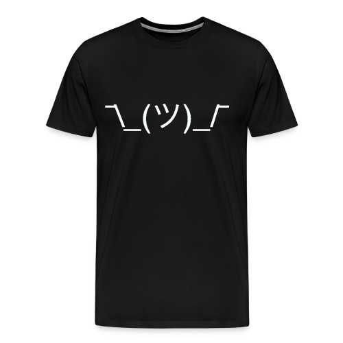 Shrug - Black - Men's Premium T-Shirt