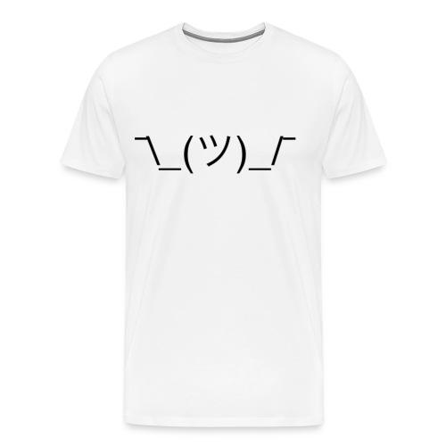 Shrug - White - Men's Premium T-Shirt